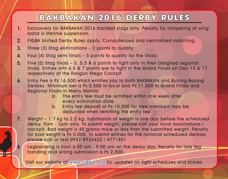 BAKBAKAN 2016 Derby Rules 1