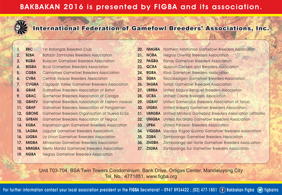 BAKABKAN 2016 FIGBA Local Members Associations