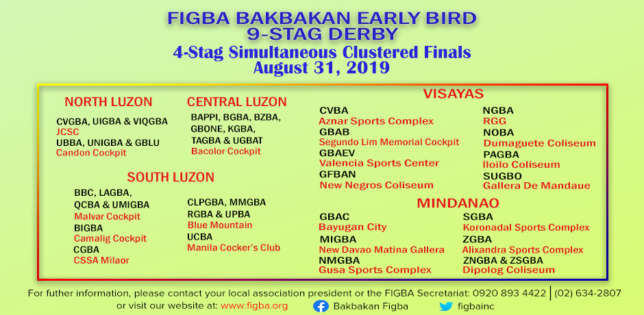 FIGBA BAKBAKAN Early Bird 10-Stag Derby 2019